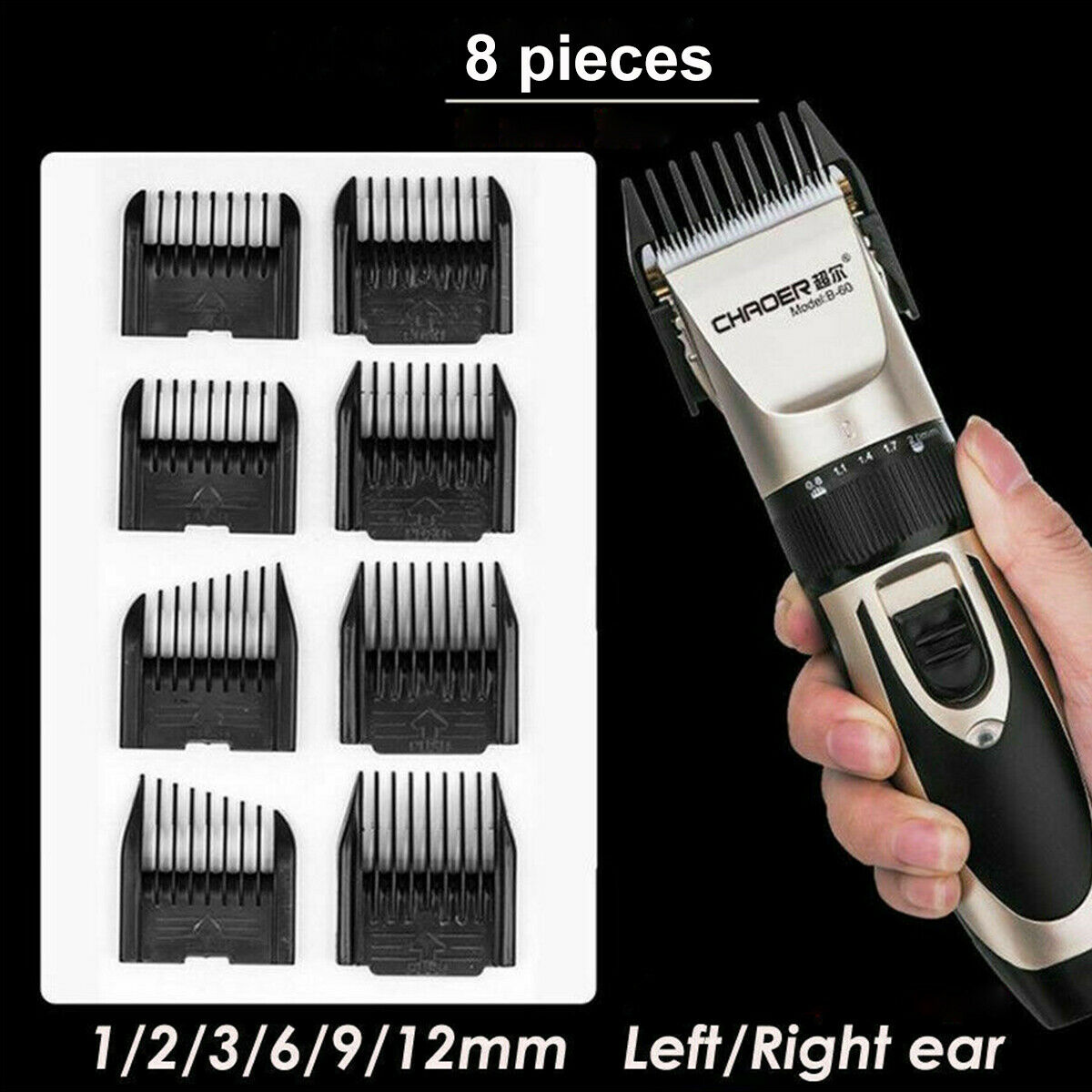 Rechargeable Men Hair Clippers Professional Cordless Trimmers Barber Haircut kit 3