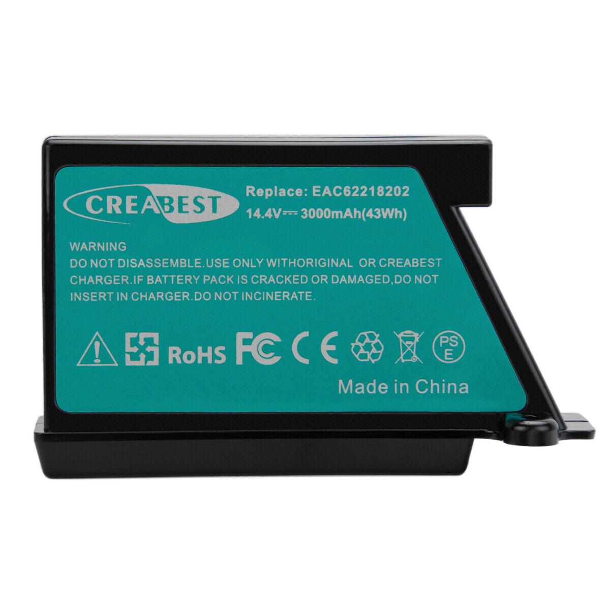 AKKU 14,4V 3000mAh Li-Ion für LG Hom-Bot VR62601LV VR62601LVM VR6260LV