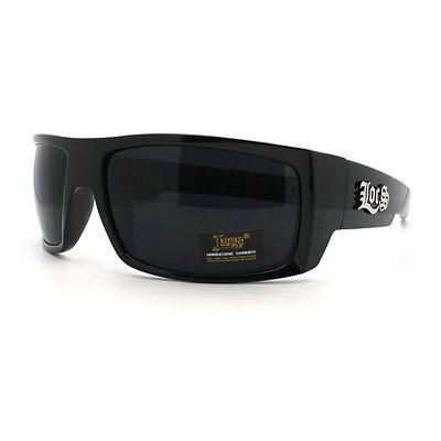 Locs Cholo All Black Rectangular Warp Mad Dog Gangster (Mad Dog Sunglasses)