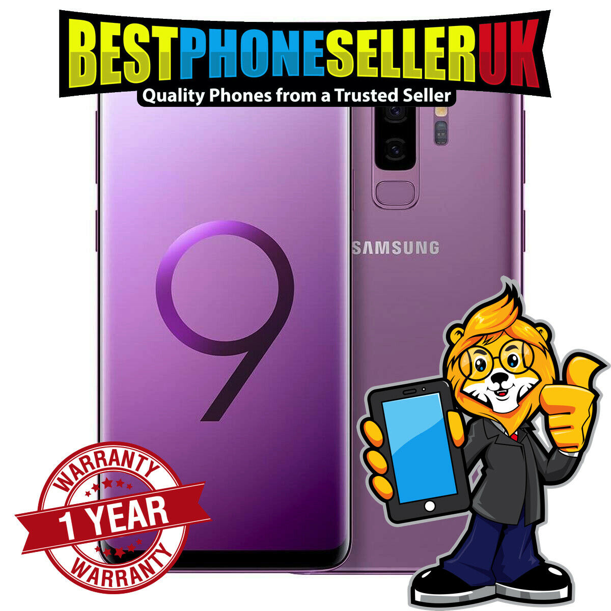 Android Phone - ☆☆☆☆ GRADE A - Samsung Galaxy S9 G960F 64gb Unlocked Smart Phone - LILAC ☆☆☆☆