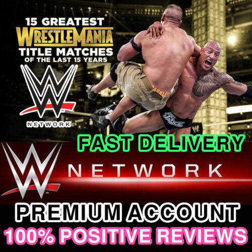 WWE Network Premium Account  |  30 days WARRANTY | Fast Delivery