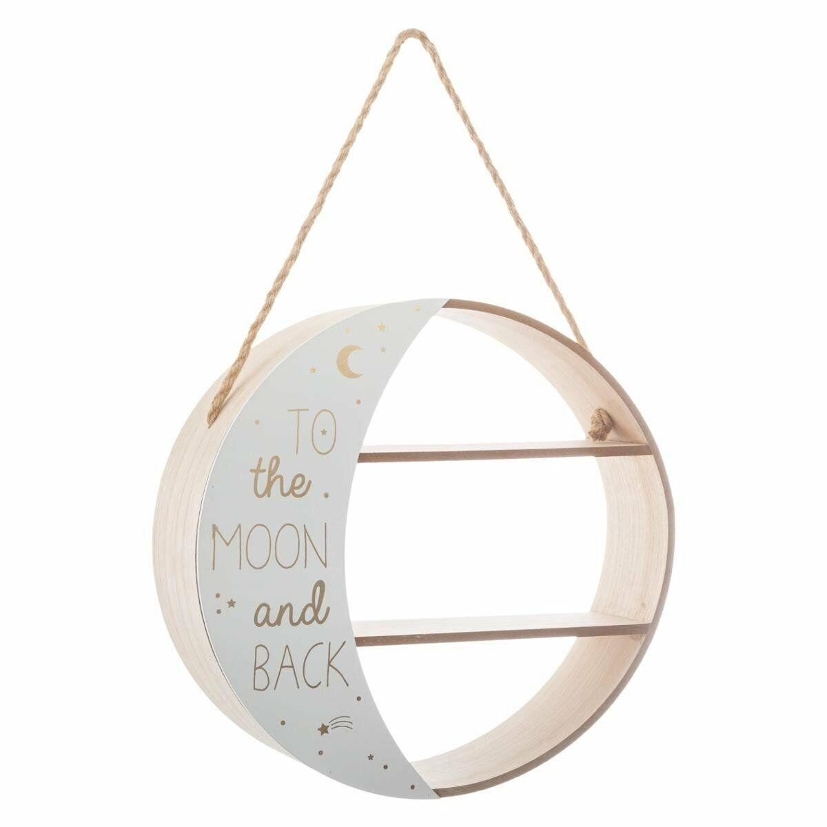 Bücherregal Mondregal mit Seil für Kinderzimmer Bohème - Atmosphera for kids