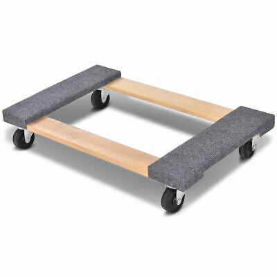 3018 Furniture Dolly Moving Carrier Mover Handle Casters 1000lbs Capacity