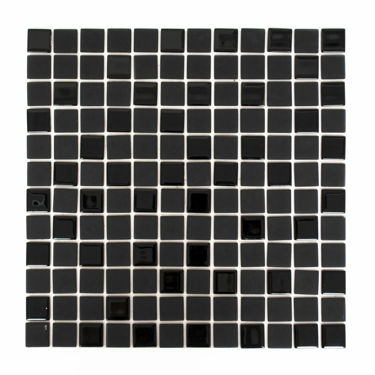 Fliesen Selbstklebende Glasmosaik Kuchenruckwand Grau Schwarz Weiss 200 4cm2810 Matten Heimwerker Anakui Com