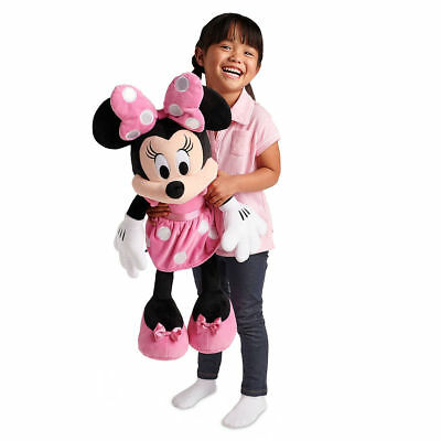 """Disney Store Authentic Pink Minnie Mouse Large Jumbo Plush 27"""" H Girls Doll"""