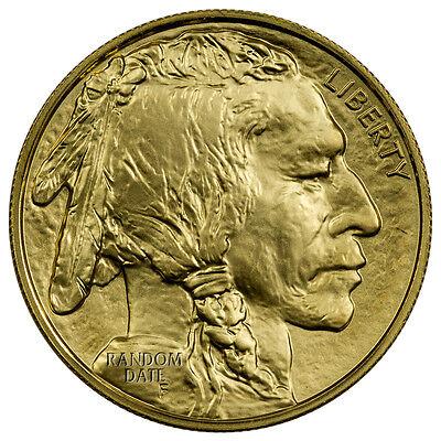 Random Date 1 Oz  .9999 Fine Gold Buffalo $50 BU Coin SKU40538