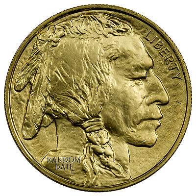 Random Date 1 oz  .9999 Fine Gold American Buffalo $50 BU Coin SKU40538
