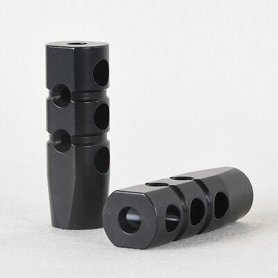 Muzzle Brake Compensator .223 556 1/2-28 CNC Steel Black QPQ Coating Finished
