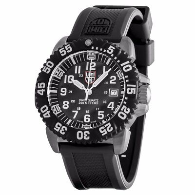 Luminox Mens 3151 Btob Navy Seal Colormark Black Dial Steel Rubber Watch
