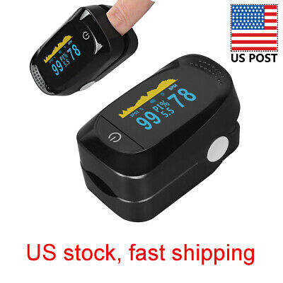 Pulse Oximeter Fingertip Blood Oxygen Spo2 Monitor Pr Pi Heart Rate W Fda 510k