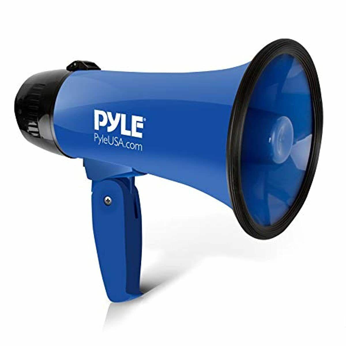 Portable Megaphone Speaker Siren Bullhorn Blue