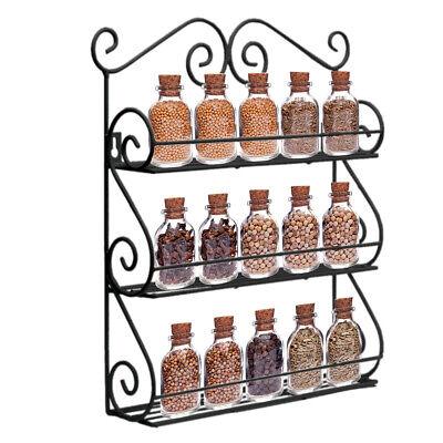 Spice (Gewürzregal Wandregal Metall Gewürzständer Spice Organizer mit 3 Etagen DE)