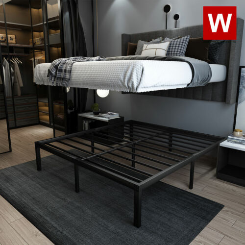 """CAL King Heavy Duty Steel Bed Frame - Cali King Size Platform Bed - Height 14"""""""