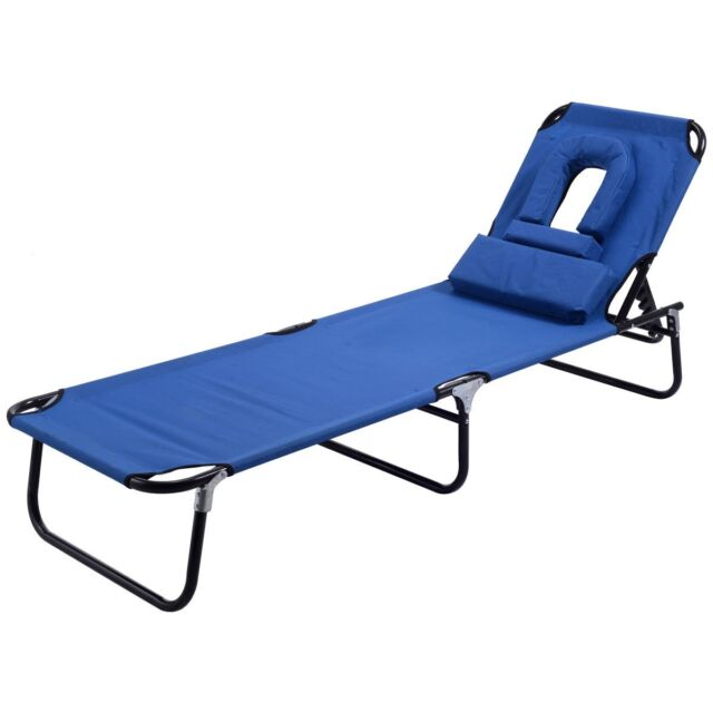 Marvelous Foldable Lounge Chair Outdoor Beach Patio Chaise Bed Camping Recliner Pool  Yard