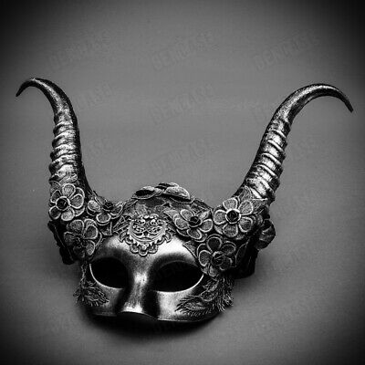 Venetian Women Party Cosplay Mask Costume Sexy Devil Ram Krampus Horn Masquerade (Krampus Horns)