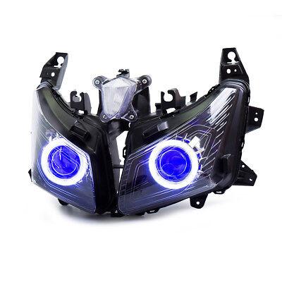 KT LED Headlight Assembly for Yamaha TMAX 530 2012 2013 2014 Blue