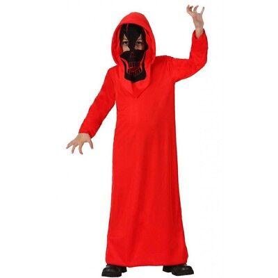 Kostüm Verkleidung Kobold Teufel Kind Halloween Kleid rot Tunika