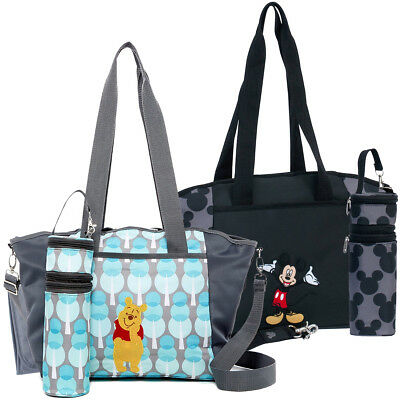 Disney Baby Diaper Tote Bag Portable Travel Organizer Changing Pad Bottle Holder