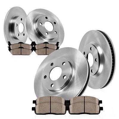 Auto Parts Rotors - Front+Rear Brake Rotors Ceramic Pads For Trac 2003 2004 2005 Ford Explorer Sport