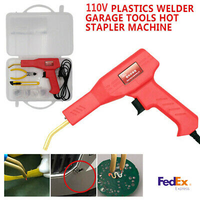 1x Plastic Welding Welder Stapler Machine With 50Set Repair Patching Tool Repair
