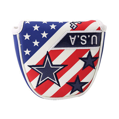 (USA Golf Magnetic Putter Cover Mallet Headcover For Odyssey 2 ball Center Shaft)
