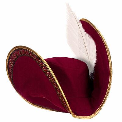 Disney Store Captain Hook Felt Hat w Brocade and Golden Trim Signature Feather](Disney Captain Hook Hat)