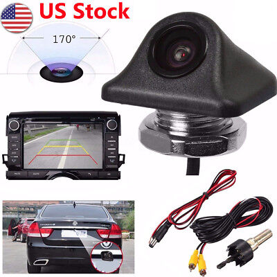 Hd Waterproof 170  Car Reverse Backup Night Vision Camera Rear View Parking Cam