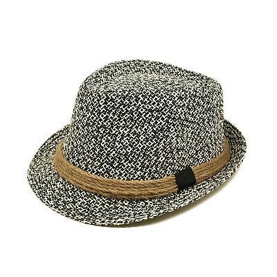 White Felt Hat - Premium Classic Black and White Fedora Straw Hat