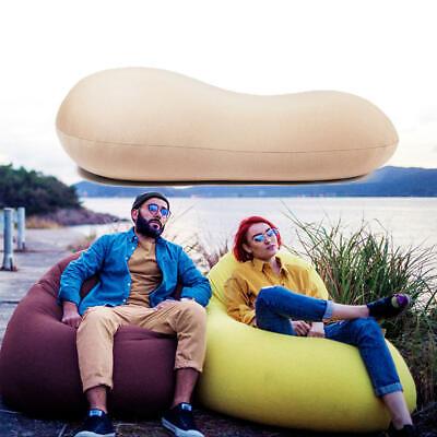 - 125x60cm Portable Bean Bag Lazy Sofa Adults Kids Beach Chair Lounger Lay Bag Cou