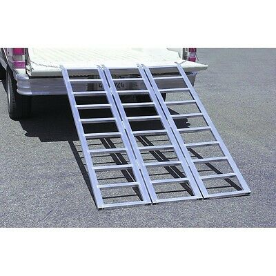 1500 lb. Capacity Tri-Fold Aluminum Loading Ramp ATV Motorcycle Lawn Snowmobile ()