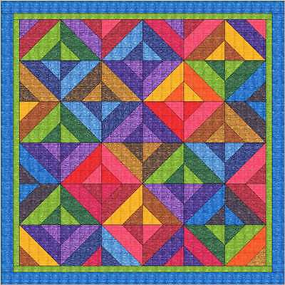 Quilt Kit/Paint outside the lines/Pre-cut Fabrics Ready To Sew/Vibrant Color