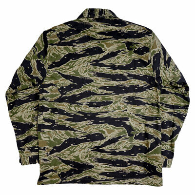 Vietnam War US Army Tiger Stripe Camo TCU Tops Jacket Cotton Size M
