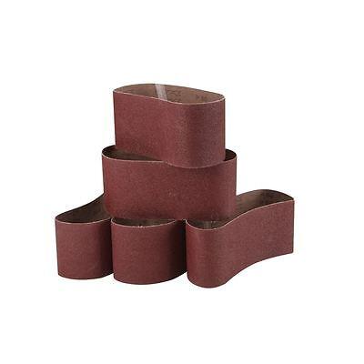 "5 PACK Sanding Belt 3"" x 21"" General Purpose Sanding Belts 80-Grit Coarse"