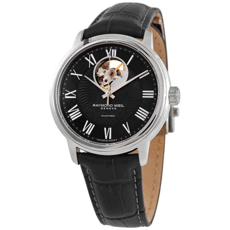 Raymond Weil Maestro Open Heart Automatic Grey Dial Men Watch 2227-STC-00609