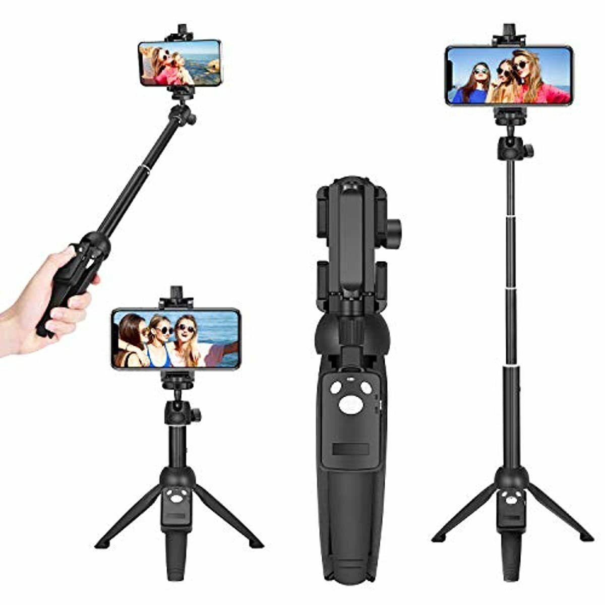 Wevon Selfie Stick, 40 inch Extendable Phone Tripod Stand wi