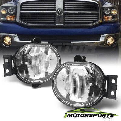 2002-2008 Dodge Ram 1500 2500 3500/2004-2006 Dodge Durango Glass Fog Lights Pair
