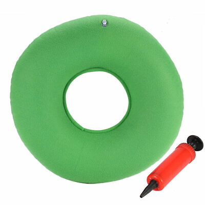 Donut Cushion, Inflatable, Hemorrhoid, Coccyx Pain Relief, Air Pump Included Green