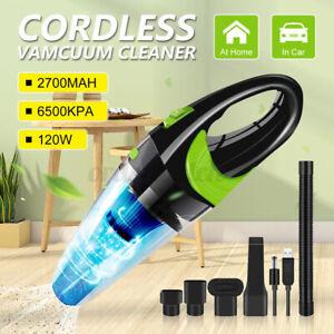 3 in1 Car Vacuum Cleaner Rechargeable Cordless Handheld Bagless Wet & Dry Vac UK