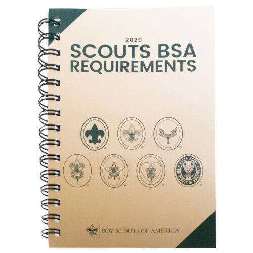 BSA BOY SCOUTS  2020 REQUIREMENTS HAND BOOK SPIRAL COIL BOUND PAGES LAY FLAT NEW