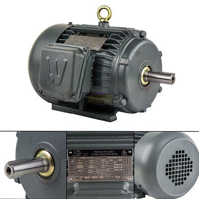 2 Hp 3 Phase Electric Motor 1800 Rpm 145t Frame Tefc 230460v Premium Efficiency