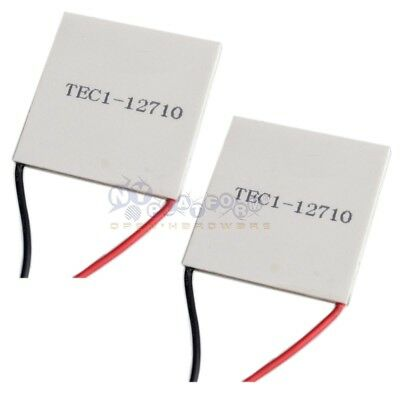 2x Tec1-12710 12710 Thermoelectric Cooler Heatsink Peltier Module 40mm 10a 154w