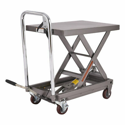 500lb Capacity Rolling Table Cart Hydraulic Cart Wfoot Pump Dolly Heavy Duty