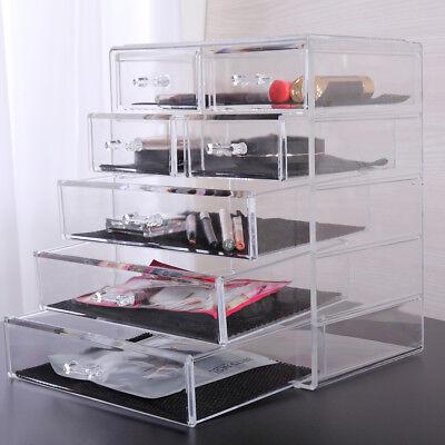 Makeup Organizer Cosmetic Storage Jewelry Boxes Acrylic Large Drawer Holder