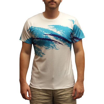Jazz Design T-Shirt 90er Jahre Körbchen Papier Platte Schale Solo Retro Lustig ()