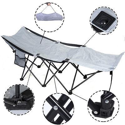 Portable Folding Camping Adventure Camp Bed Durable Hammock Sleeping Cot Steel