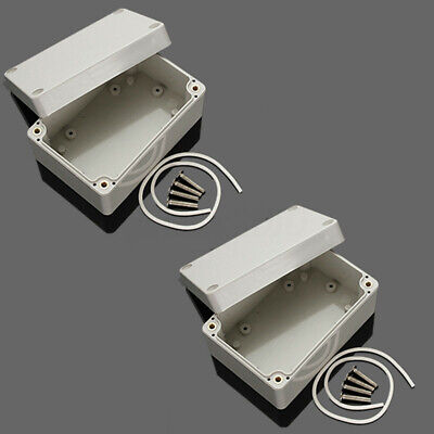 2x 4 X 2.6 X 2 Abs Plastic Electronics Enclosure Project Box Hobby Case Us