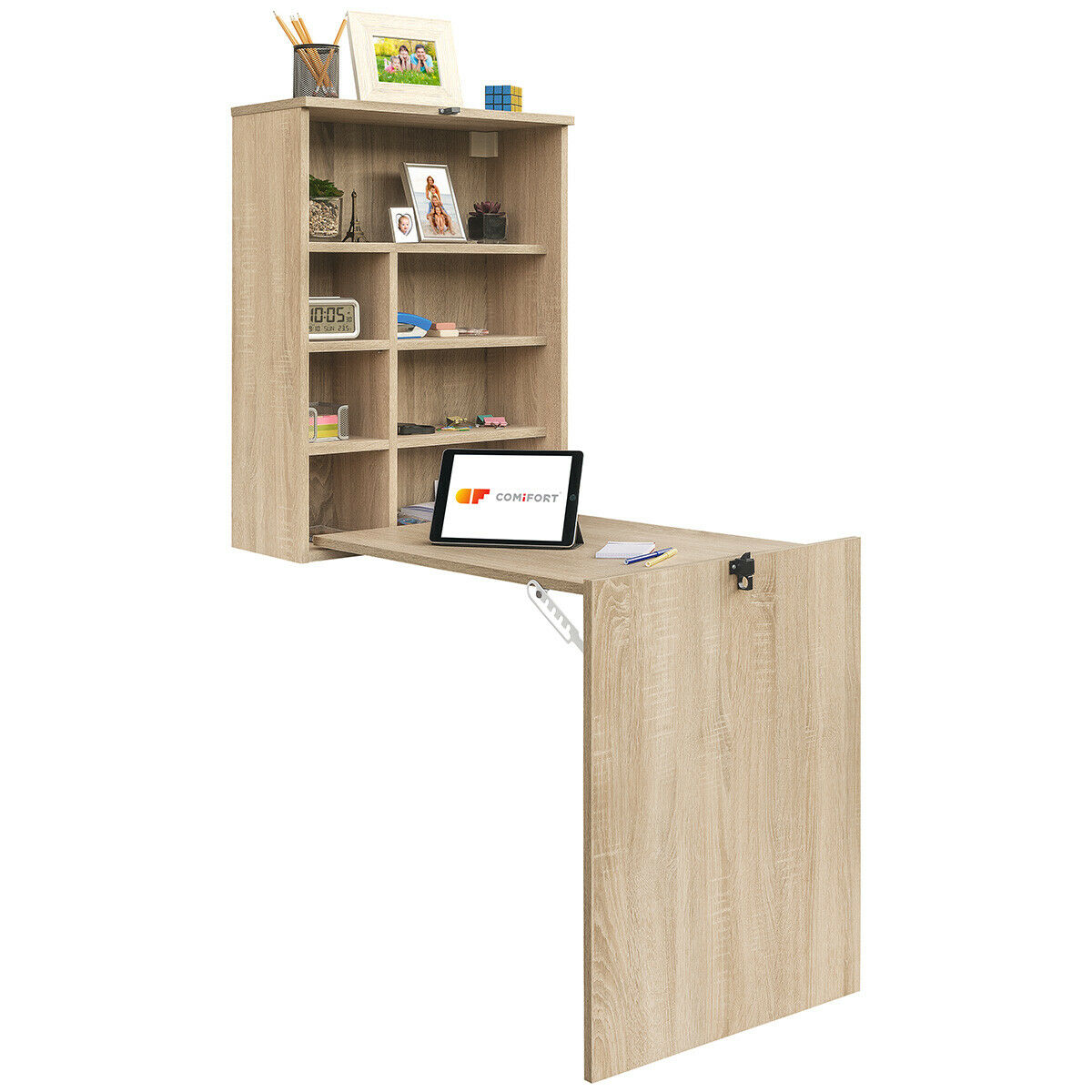 COMIFORT – Escritorio de Pared Plegable, Mesa Abatible Colgante de Pie estudio