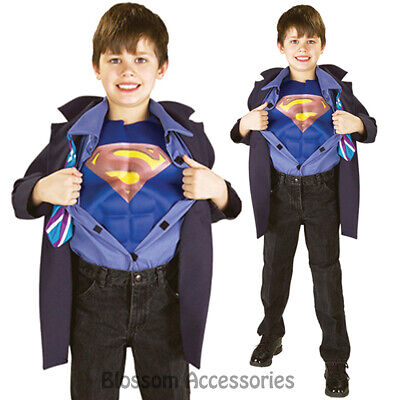 CK678 Reversible Clark Kent Superman Superhero Hero Fancy Kid Child Boys Costume - Baby Clark Kent Costume