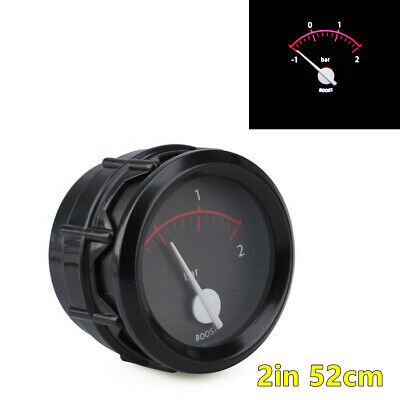 12V Poniter Car Racing Turbo Boost Gauge Meter White LED Background Light 52mm