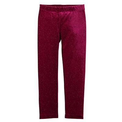 NWT Gymboree Girl Leggings Sparkle Velour Winter Star Raspberry many sizes - Girls Sparkle Leggings